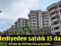Belediyeden satılık 15 daire