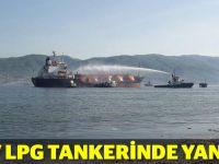 Körfez'de LPG yüklü tankerde yangın