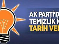AK Parti'deki temizlik için tarih verdi
