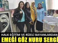 Halk Eğitim ve Rizeli bayanlardan ortak sergi