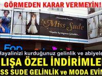 Miss Sude Gelinlikten açılışa özel kampanya