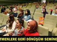 Gebzeli Öğretmenlere geri dönüşüm semineri