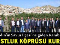 Karabacak, Savur'la dostluk köprüsü kurdu
