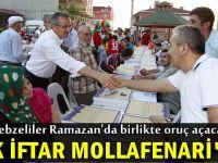 İlk iftar sofrası Molla Fenari'de