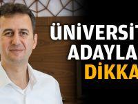 Rektörden üniversite adaylarına uyarı