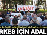 Gebze CHP'den Adalet eylemi