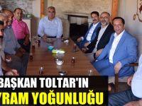 Başkan Toltar'ın bayram yoğunluğu