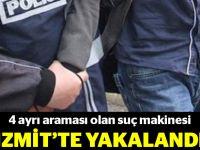 Suç makinesi İzmit'te yakalandı