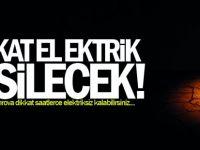Dikkat elektrik kesintisi yaşanacak! Gebze ve Çayırova dikkat saatlerce elektriksiz kalabilirsiniz....