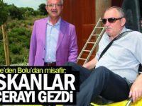 Gebze'den Bolu'dan misafir;   Başkanlar Macerayı gezdi