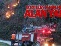 10 yılda 9 bin hektar alan yandı