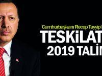 Erdoğan'dan teşkilatlara 2019 talimatı
