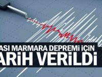 Olası Marmara depremi için tarih verildi