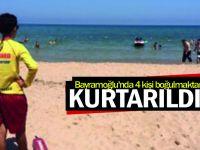 Bayramoğlu'nda 4 kişi boğulmaktan kurtarıldı