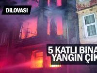 5 katlı binada yangın çıktı