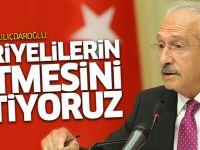Kılıçdaroğlu: Suriyelilerin ülkelerine gitmesini istiyoruz
