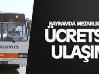 Gebze'de Bayramda mezarlıklara ücretsiz ulaşım