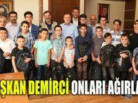 Başkan Demirci, GİLMDER'li öğrencileri ağırladı