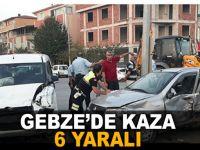 Gebze'de kaza 6 yaralı