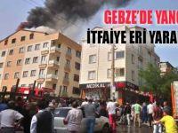 Gebze'de evin çatısı yandı