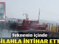 Teknede tabancayla intihar etti
