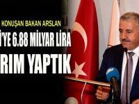 Arslan: Kocaeli'ye 6.88 milyar lira yatırım yaptık