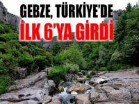 Gebze Türkiye'de İlk 6'ya girdi!