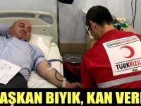 Başkan Bıyık kan verdi!