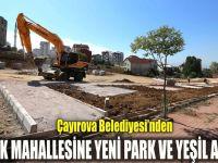 Çayırova Belediyesi'nden Emek Mahallesine yeni park