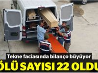 Kocaeli'de ki tekne faciasında ölü sayısı 22'ye çıktı