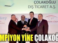 Çolakoğlu Metalurji 2016 yılı ihracat şampiyonu