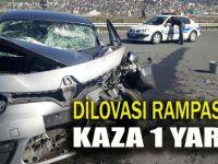 Otomobil TIR'la çarpıştı: 1 yaralı