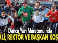 Vali, rektör ve başkan Darıca Yarı Maratonu'nda koştu