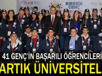 41 Genç artık üniversiteli