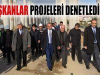 Başkanlar projeleri incelediler