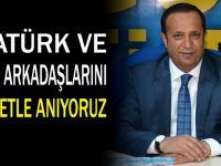 Başkan Toltar'ın 10 Kasım Mesajı
