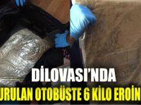 Yolcu otobüsüne operasyonda 6 kilo uyuşturucu bulundu