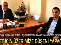 Sarıca ve yönetiminden gazetemize ziyaret