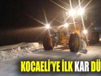 Kocaeli'ye ilk kar düştü!