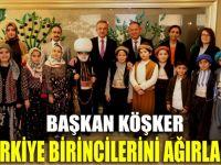 Başkan Köşker, Türkiye birincilerini ağırladı