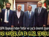 KASFK Başkanı'ndan Toltar ve Laç'a önemli ziyaret