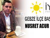 İYİ Parti Gebze İlçe Başkanı Nusret Acur oldu