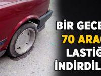 Gebze'de bir gecede 70 aracın lastiğini patlattılar!