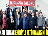 Başkan Toltar, meclis üyeleri birlikte ihanet davasını izledi