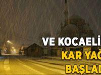 Kocaeli'de kar yağışı başladı!