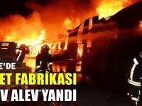 Palet  fabrikası alev alev yandı!