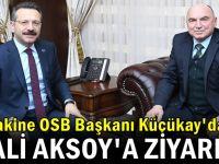 Başkan Küçükay Vali Aksoy'u ziyaret etti
