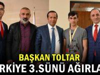 Başkan Toltar Türkiye 3.sünü ağırladı