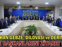 Ceyhan ilçe başkanlarını ziyaret etti