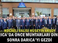 Vali Aksoy'dan Darıca'da şehit ailelerine ziyaret